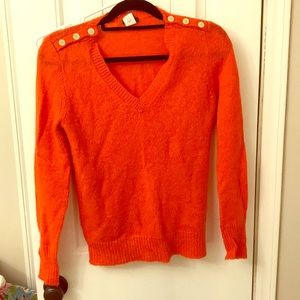 Orange Fall J Crew Sweater Small warm autumn